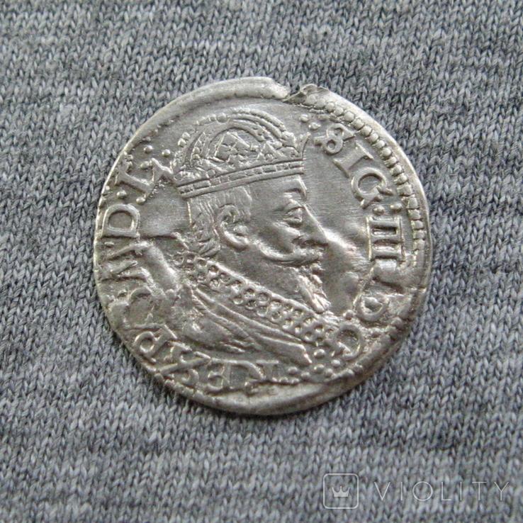 Литовский грош 1625 года. Сиг. ІІІ Ваза., фото №3