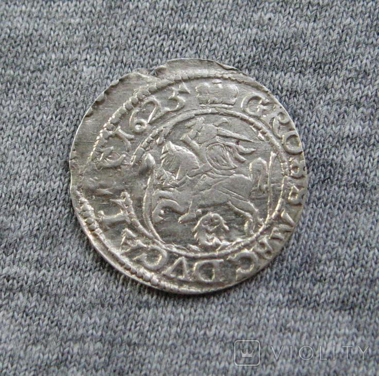 Литовский грош 1625 года. Сиг. ІІІ Ваза., фото №4