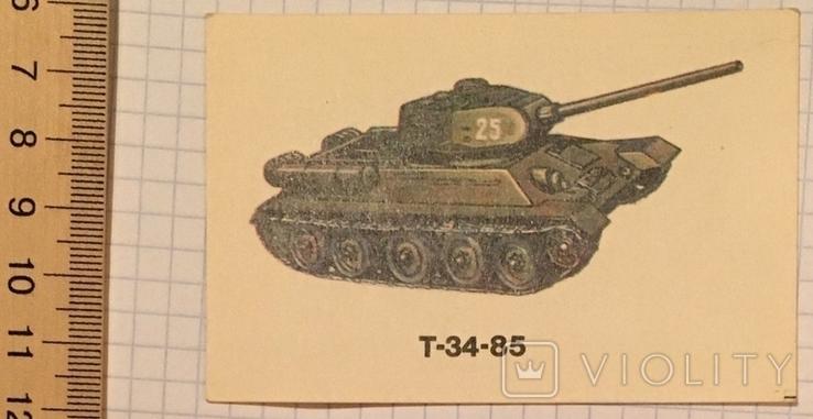 Календарик танк, Т-34-85 / Болгария, 1990, фото №3