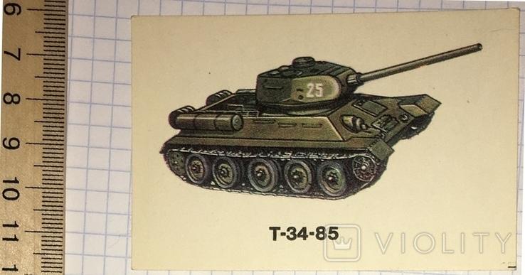Календарик танк, Т-34-85 / Болгария, 1990, фото №2