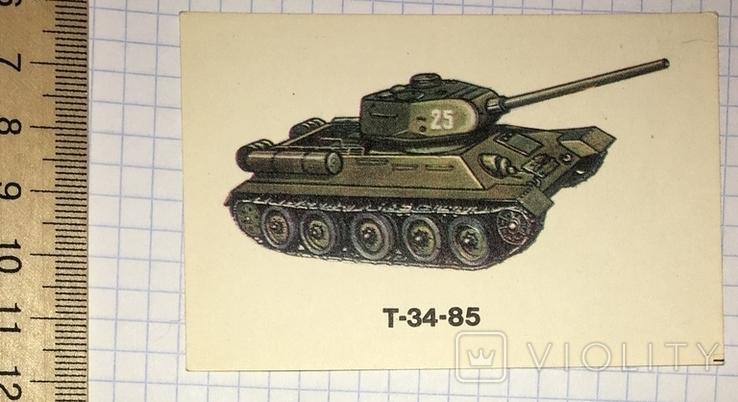 Календарик танк, Т-34-85 / Болгария, 1990, фото №4