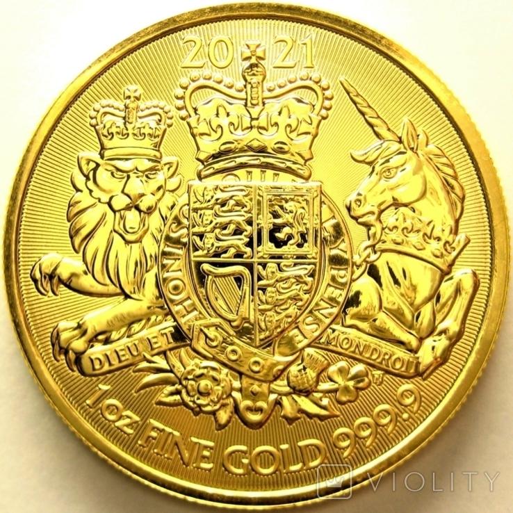 Великобритания 100 фунтов 2021 г. Royal Arms, фото №2