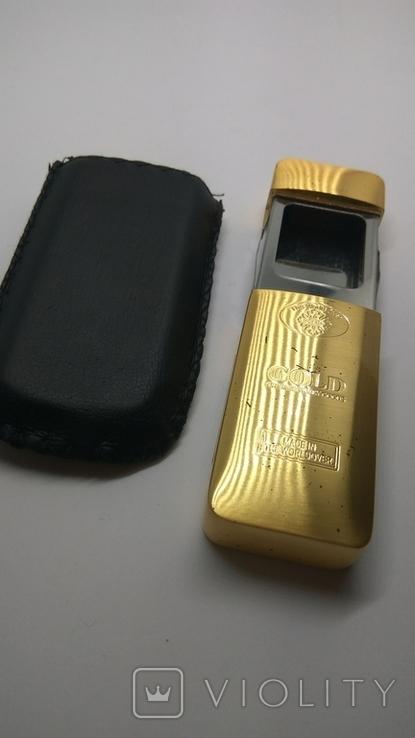 Карманная пепельница с чехлом, ( золотой слиток), фото №3