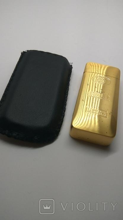 Карманная пепельница с чехлом, ( золотой слиток), фото №4