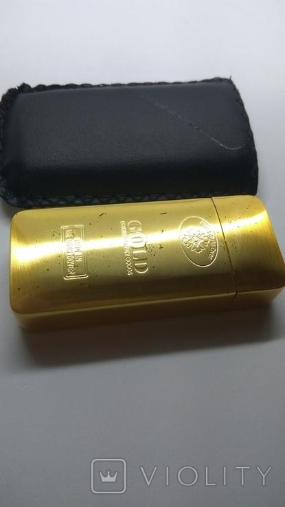 Карманная пепельница с чехлом, ( золотой слиток), фото №5