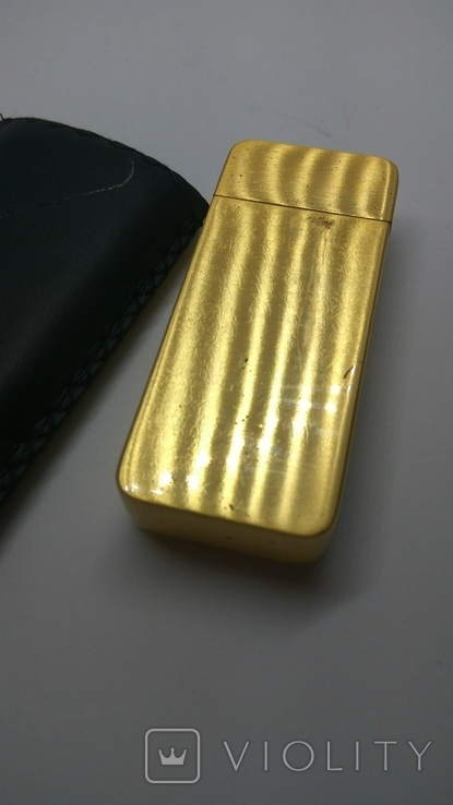 Карманная пепельница с чехлом, ( золотой слиток), фото №6