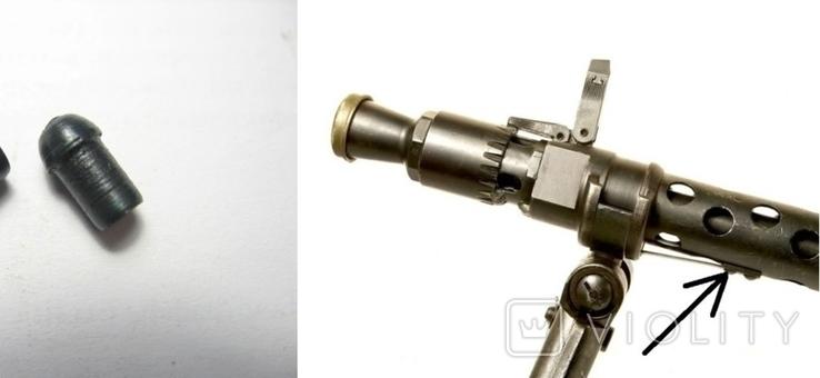 МГ-34, компл. 2шт. заклепок пружины фикс. крепление сошек. копия, фото №3