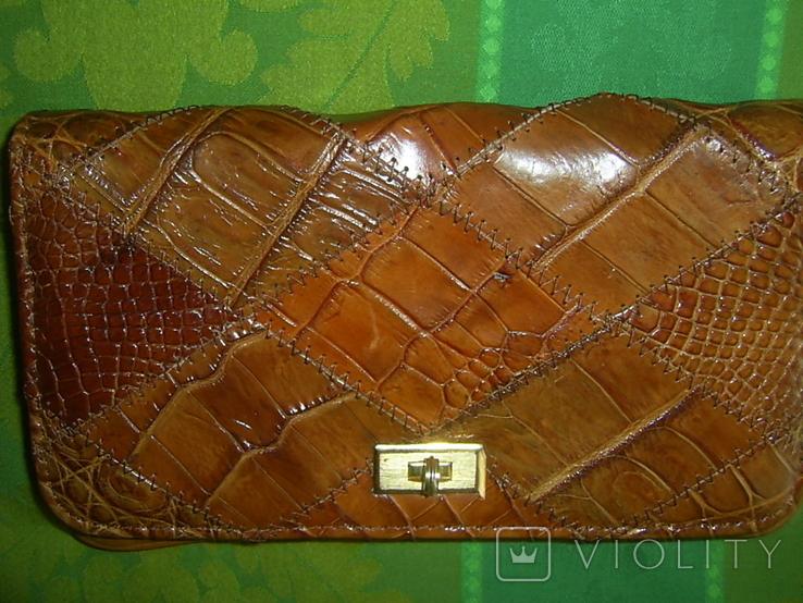 Клатч винтажный кожаный, фото №2