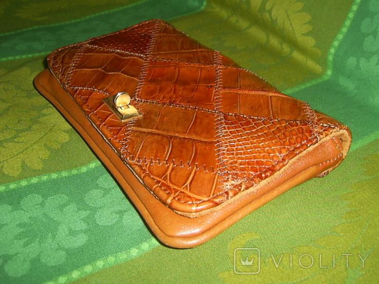 Клатч винтажный кожаный, фото №3