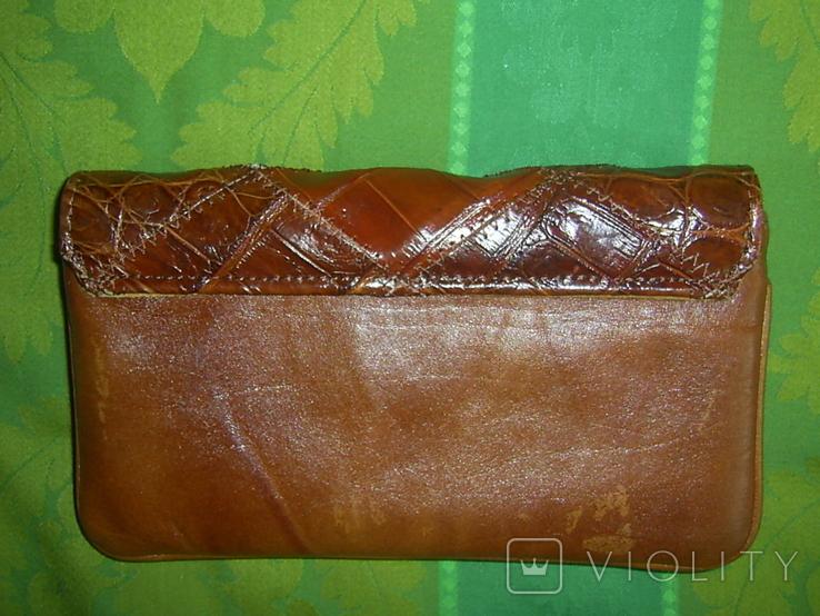 Клатч винтажный кожаный, фото №4