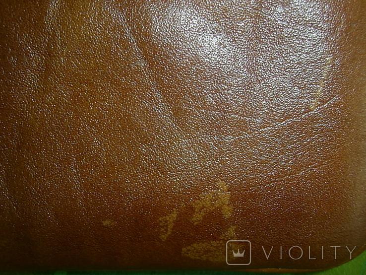 Клатч винтажный кожаный, фото №5
