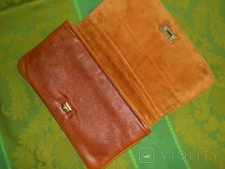 Клатч винтажный кожаный, фото №7