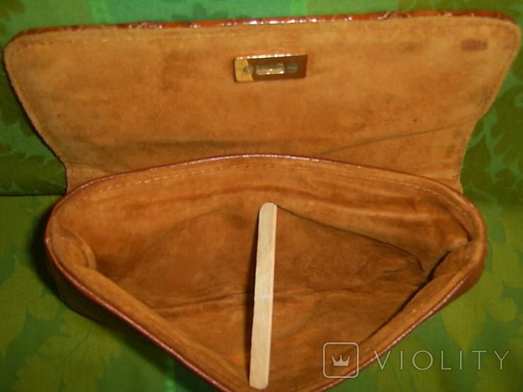 Клатч винтажный кожаный, фото №8