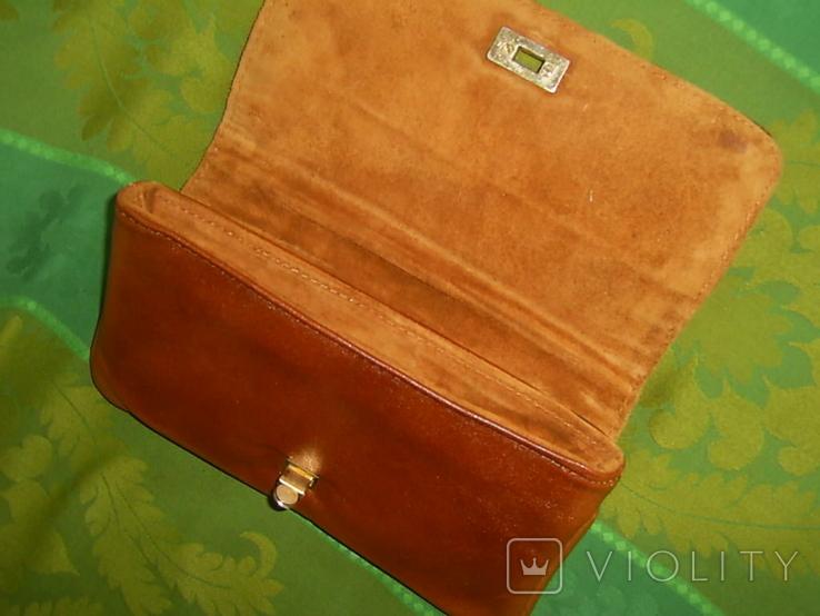 Клатч винтажный кожаный, фото №9