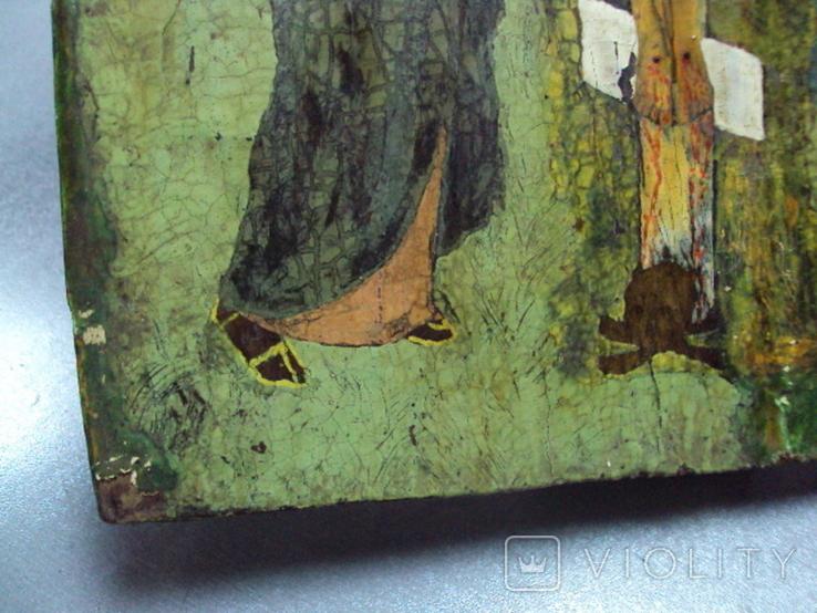 Икона Распятие с предстоящими дерево 27,5 х 23 см, толщина 2 см, фото №11