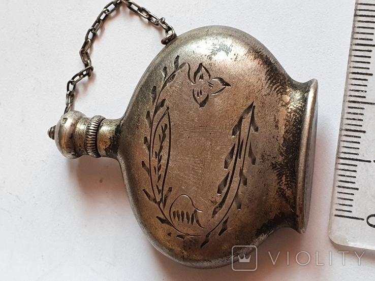 Флакон для духов. Серебро 875. СССР., фото №10