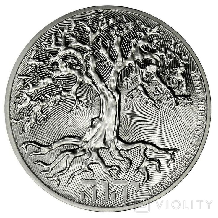 2 Доллара 2021 Дерево Жизни (Серебро 0.999, 31.1г) 1oz, Ниуэ Унция, фото №2