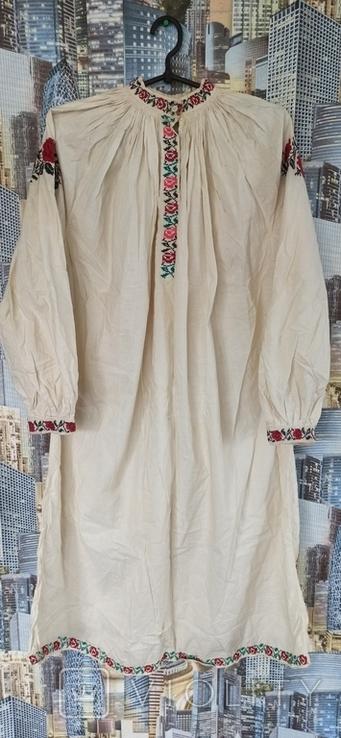 Сорочка вышитая крестом старинная, фото №2