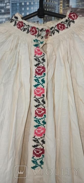 Сорочка вышитая крестом старинная, фото №4
