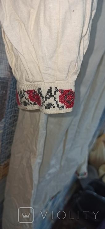 Сорочка вышитая крестом старинная, фото №5