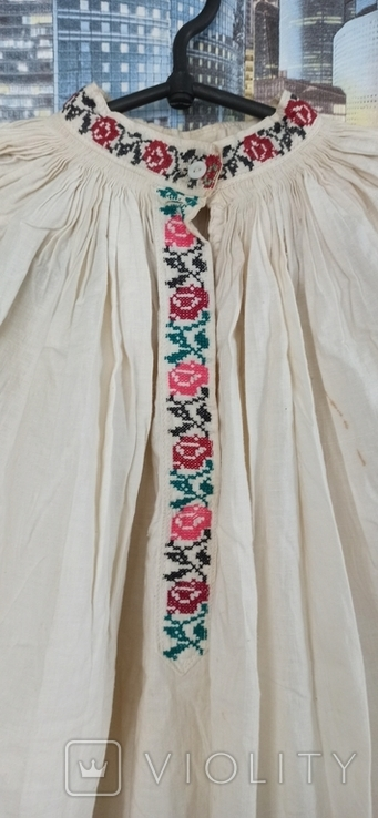 Сорочка вышитая крестом старинная, фото №6
