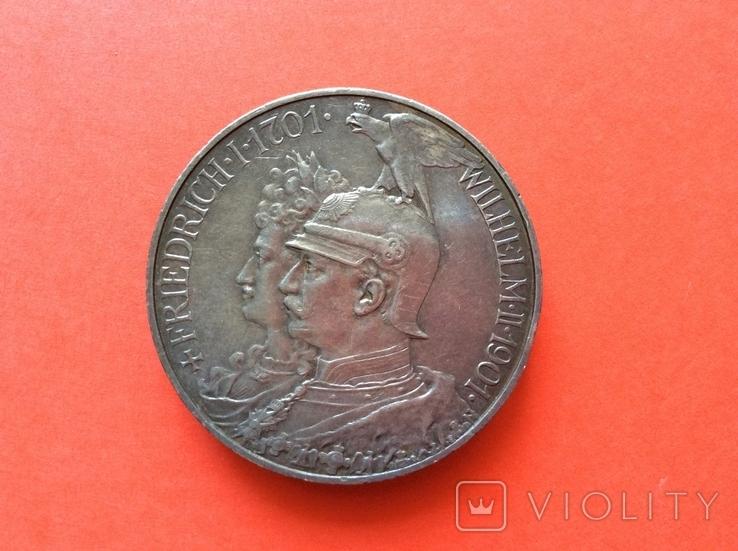 5 марок 1901 г 200 лет Пруссии, фото №2