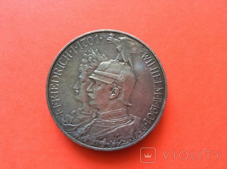 5 марок 1901 г 200 лет Пруссии, фото №3