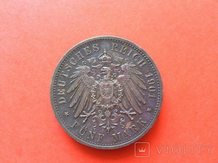 5 марок 1901 г 200 лет Пруссии, фото №4