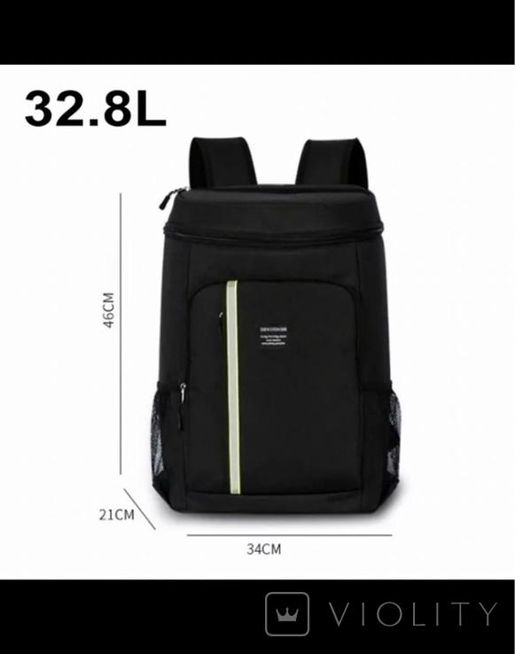 Термо сумка рюкзак на 32л, фото №2