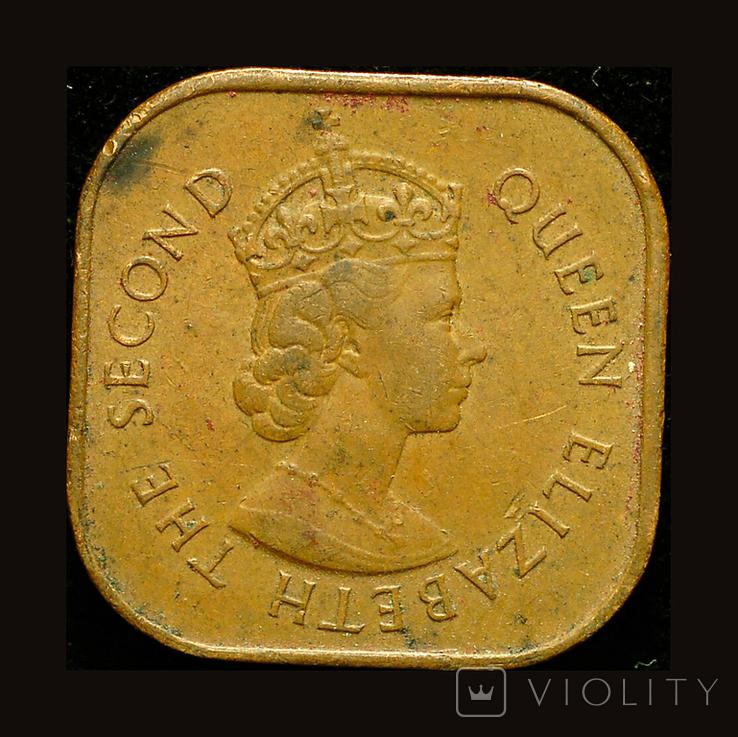 Британская Малайя 1 цент 1962, фото №2