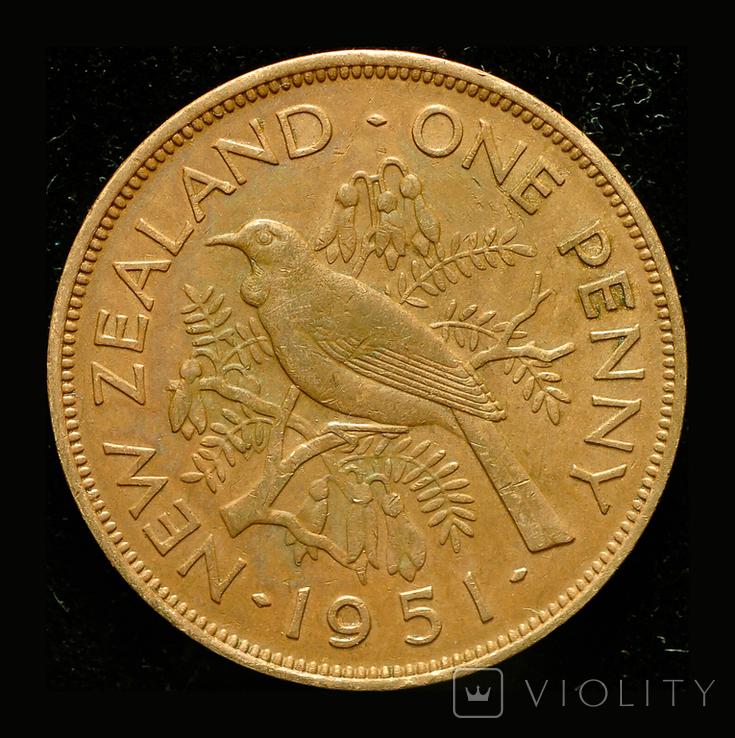 Новая Зеландия 1 пенни 1951, фото №2