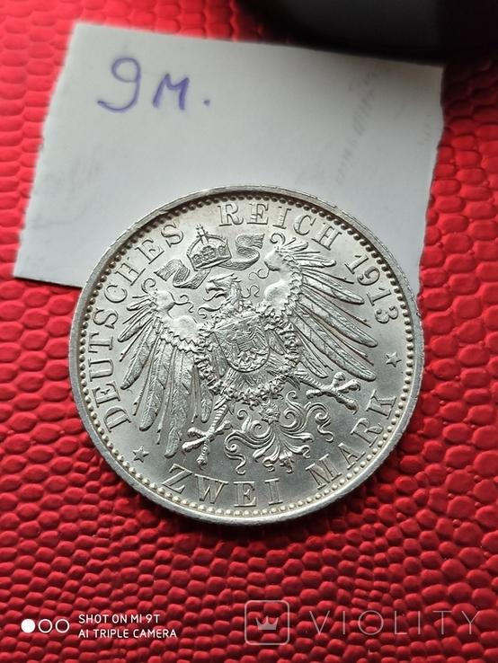 2 марки Пруссия Парадный мундир 1913г.690, фото №5