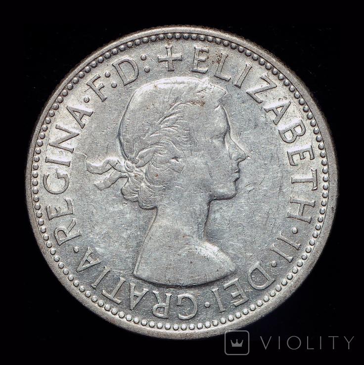 Австралия флорин 1954 серебро 11,31 грамм, фото №3