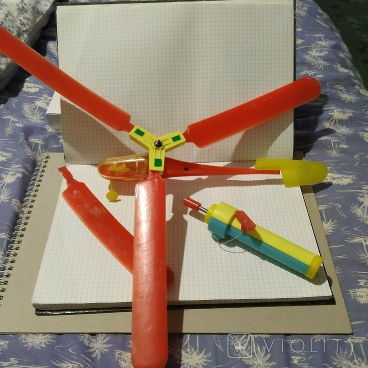 Популярная игрушка Вертолет 70г СССР, фото №2