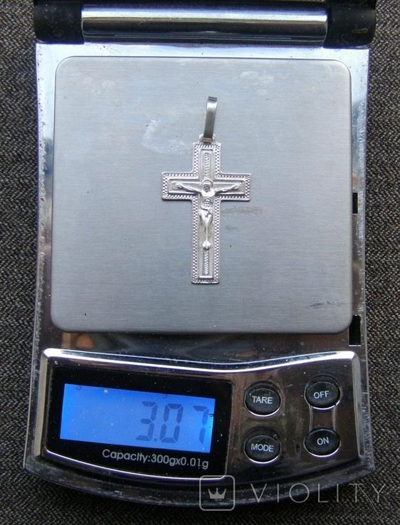 Крестик. Серебро 925 пр. Вес - 3,07 г., фото №2