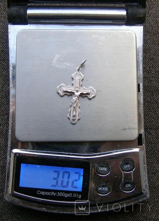 Крестик. Серебро 925 пр. Вес - 3,02 г., фото №2