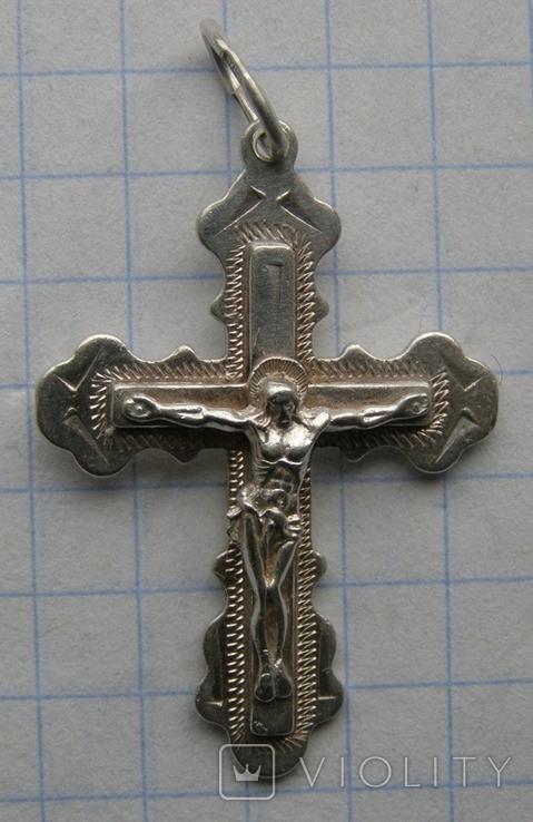 Крестик. Серебро 925 пр. Вес - 3,02 г., фото №3