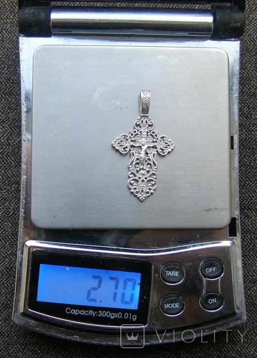 Крестик. Серебро 925 пр. Вес - 2,7 г., фото №2
