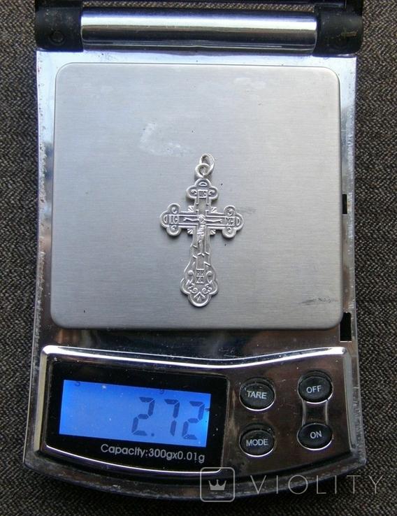 Крестик. Серебро 925 пр. Вес - 2,72 г., фото №2