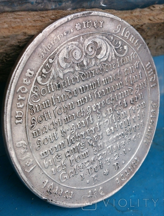 Крестильный таллер. Хардс ,1705 год., фото №9