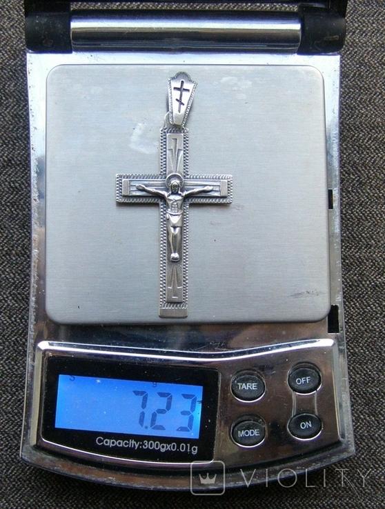 Крестик. Серебро 925 пр. Вес - 7,23 г., фото №2