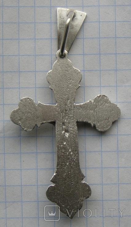 Крестик. Серебро без пробы. Вес - 12,93 г., фото №5