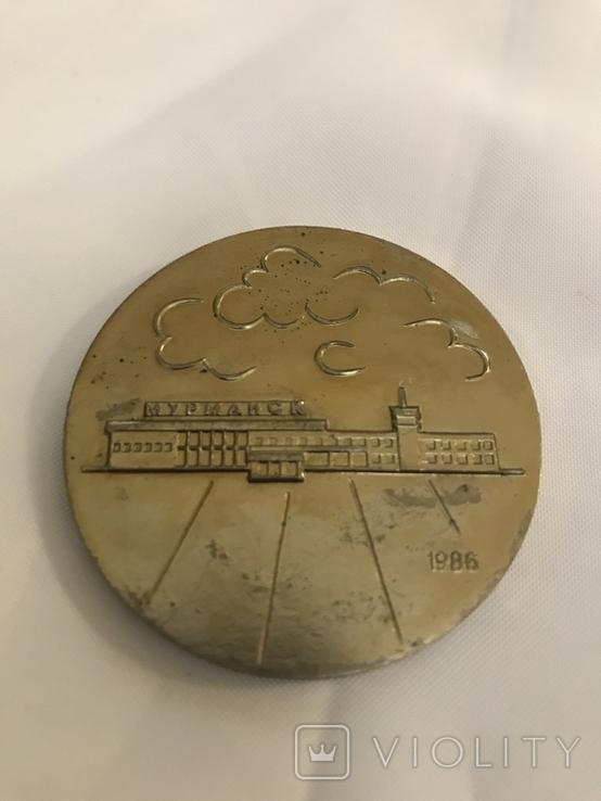 Настольная медаль Мурманский авиаотряд, фото №3