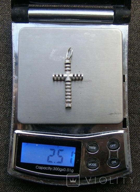 Крестик. Серебро 925 пр. Вес - 2,51 г., фото №2