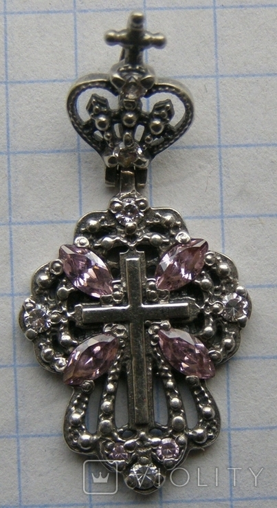 Крестик. Серебро 925 пр. Вес - 3,33 г., фото №3