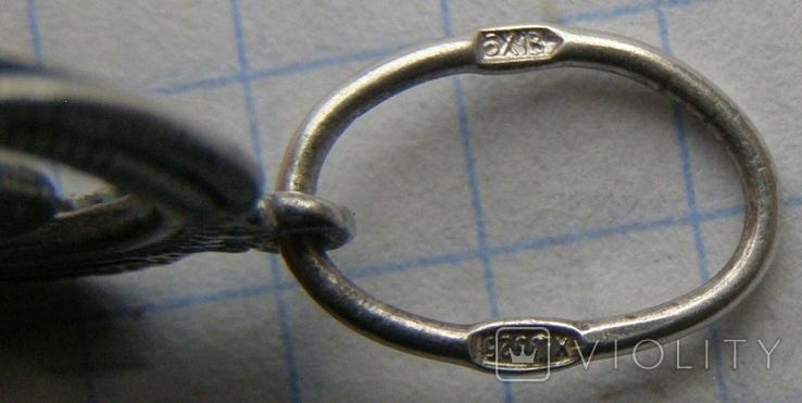 Кулон. Серебро 925 пр. Вес - 2,58 г., фото №5