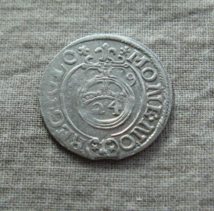 Полторак ( 1/24 талера ) 1619 года. Сиг. ІІІ Ваза., фото №4