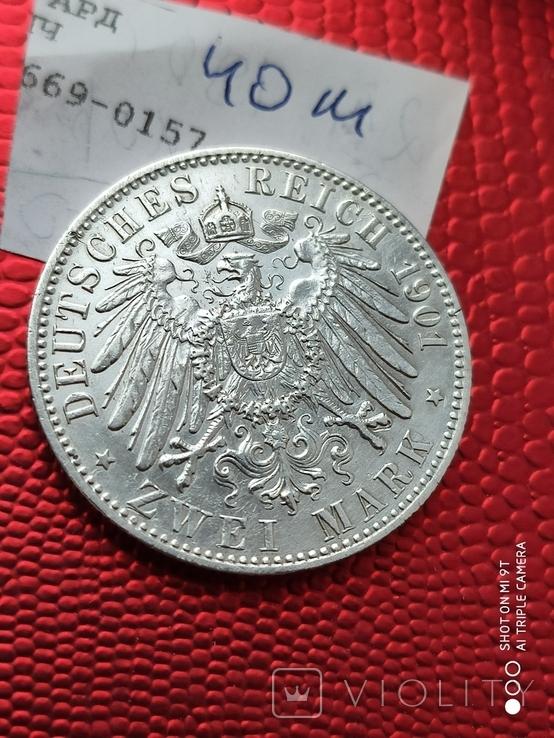 2 Марки 200л.Королевству Пруссии 1901г., фото №4