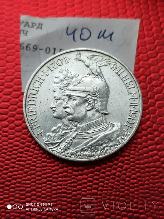 2 Марки 200л.Королевству Пруссии 1901г., фото №2