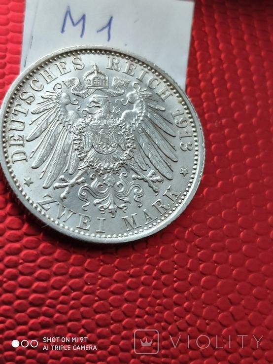 2 марки Пруссия Парадный мундир 1913г.690, фото №4